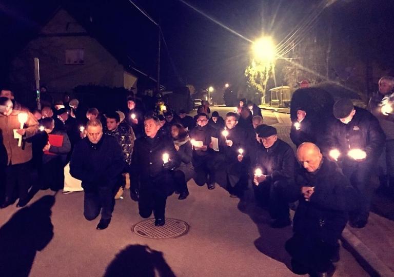 Droga Krzyżowa ze św. Ritą ulicami w roku 2018 Głębinowa